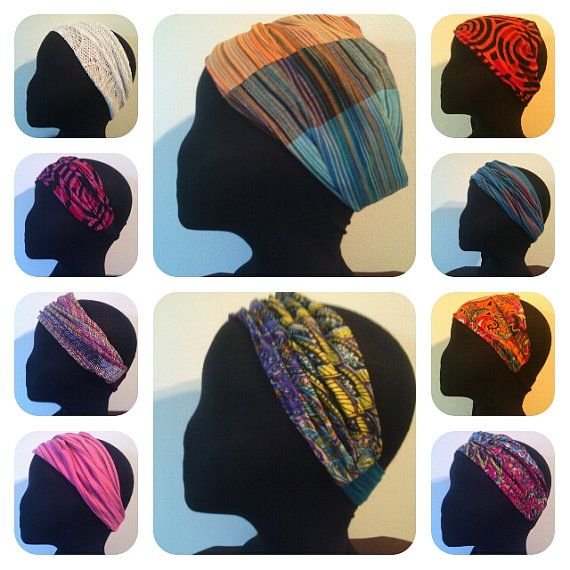 Wholesale Headbands cotton, made in South Africa, hand block printed headbands, Sweat bands for Yoga, Sports. High fashion, Elephant prints, African drums,pots,huts and bushmen mural prints' flowers, Knysna seahorse prints, butterflies, sea shells - MINIMUM ORDER  20 -  A wide range of headbands:- we make baby size too  Zambezi print comes in a variety of colours  The Patchwork is in the main collage middle top  Peacock print comes in pink, Orange or  purple yellow and is in middle of…