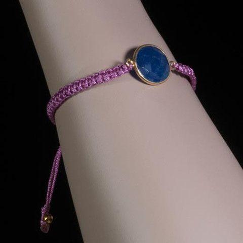Lavender Bracelet Lapis Lazuli  At Anthoshop.com
