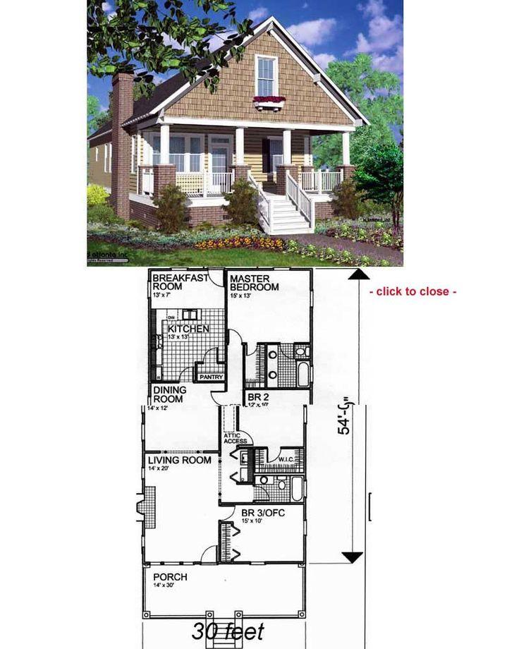 93 best Dream Home Design images on Pinterest Small house plans - bungalow floor plans