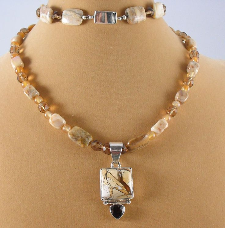 Mookaite Necklace and Pendant offered by Not Just MUSI Bows on Ruby Lane