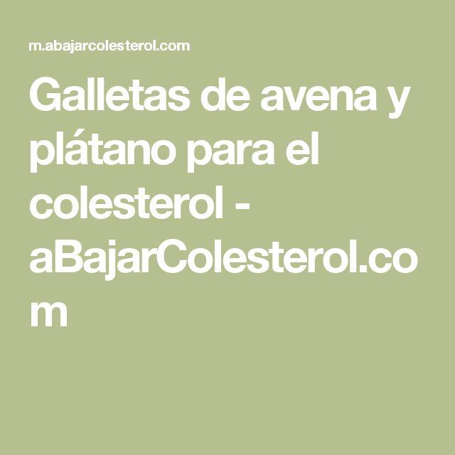 Galletas de avena y plátano para el colesterol - aBajarColesterol.com