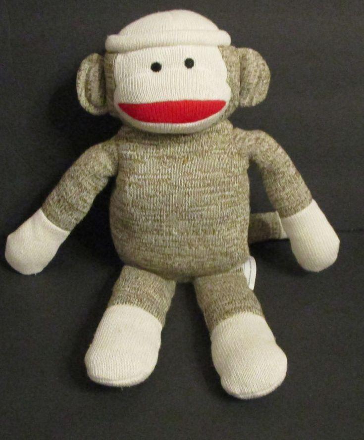 "Kohl's Cares for Kids Brown Sock Monkey Plush Stuffed Animal 14"" 2012 #KohlsCareforKids"