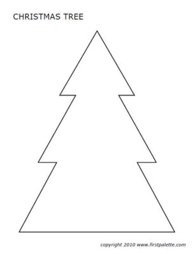 This is a photo of Irresistible Free Printable Christmas Tree Template