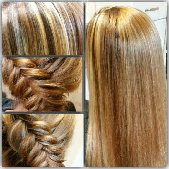 Blonde folie kleuring