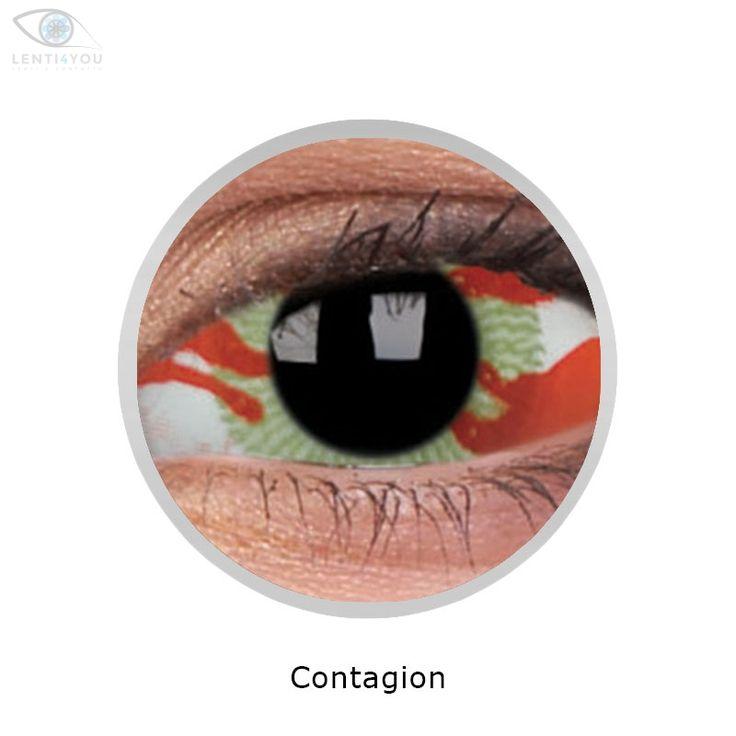 Lenti a contatto colorate bianche LENTI SCLERALI CONTAGION 22mm SCLERA tutto l'occhio | SCLERA LENSES| HALLOWEEN | Lenti4YOU