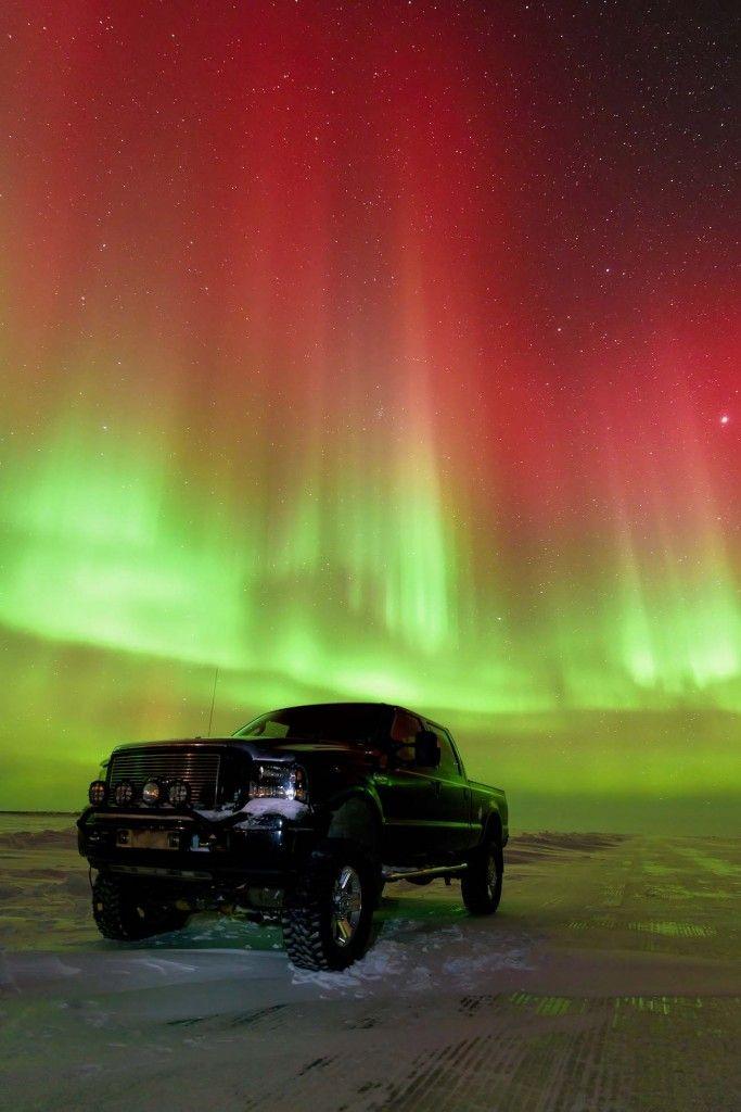 Auroras boreales desde Tuktoyaktuk, Territorios del Noroeste, Canadá. 28 de febrero de 2014 Crédito: Francis Anderson