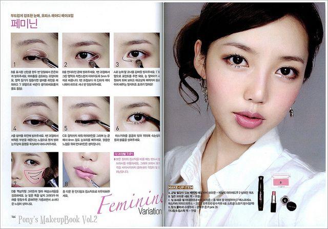 PONY MakeupBook_07   Magic's In The Makeup   Korean Makeup, Pony makeup, Korean makeup tutorials