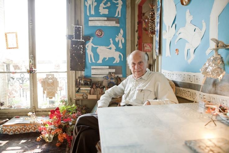 Yona Friedman in his Paris apartment