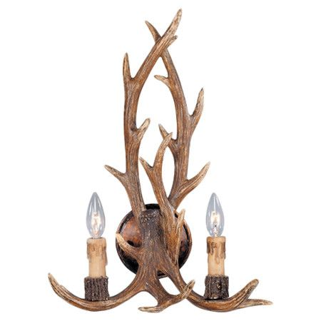Wall Sconce With Weathered Antler Inspired Detail Product