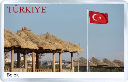 $3.29 - Acrylic Fridge Magnet: Turkey. Belek Beach View