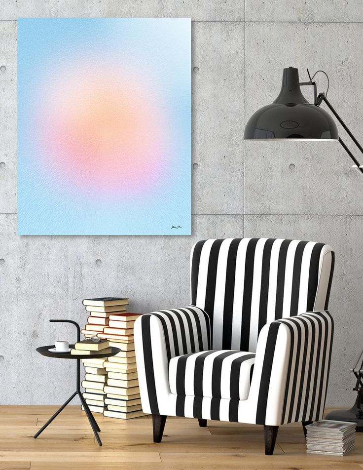 «Sweet Sun Blush», Numbered Edition Aluminum Print by Dominique Vari - From $59 - Curioos  #abstract #geometry #sun #beautiful #soft #buyart #curioos #DominiqueVari