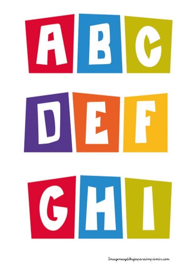 Letras grandes de pocoyo  Letras pocoyo para imprimir