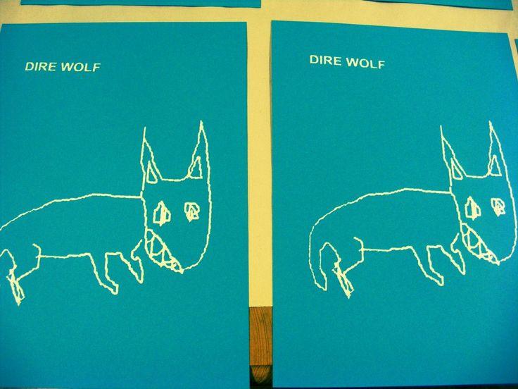 Dire Wolf A4 Screen-Print