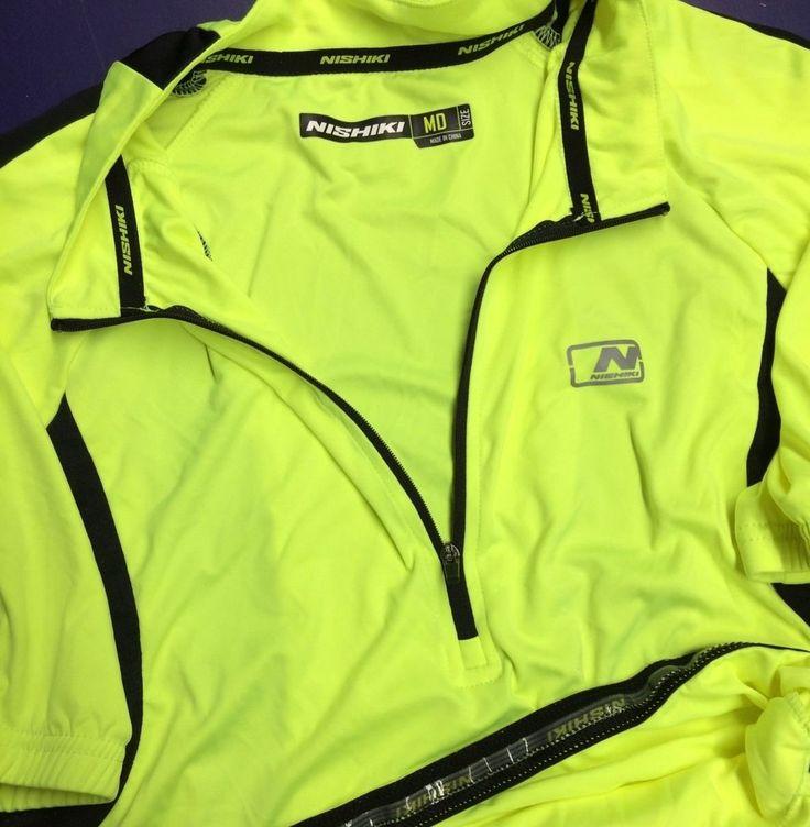 Nishiki Cycling Jersey Neon Yellow Tour de France triathlon mountain bike Medium