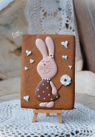 bunny portrait cookie