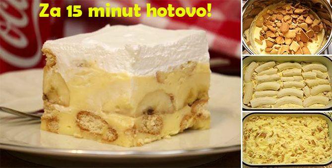Rychlý a fantastický nepečený banánový dezert – příprava trvá 15 minut!