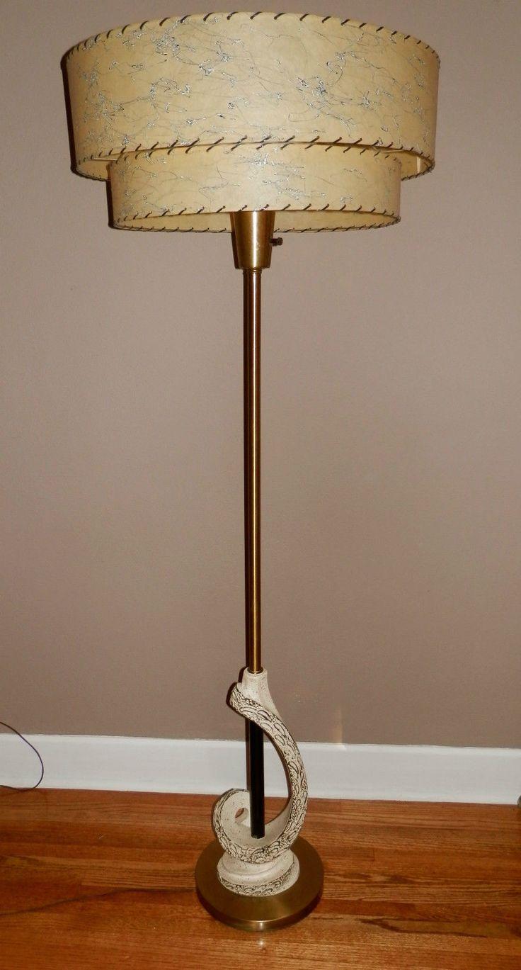 Vintage 50 S Retro Mcm Mad Men Era Atomic Floor Lamp W 2