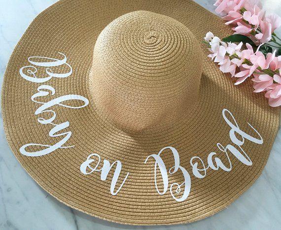 1e7828961 Floppy Beach Hat, Floppy Sun Hat, Baby on Board Hat, Pregnancy ...