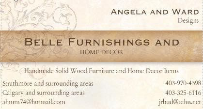 Belle Furnishings Home Decor. Custom made solid wood furnishings and home decor items for sale.