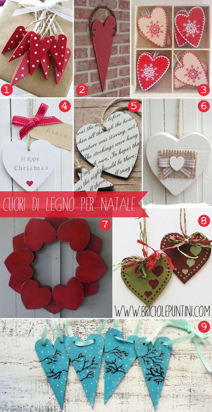 cuori di legno: idee per Natale
