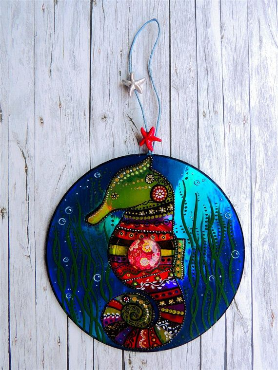 Sea horse decor, sea decor, sea ornament, whimsical sea horse, underwater world…