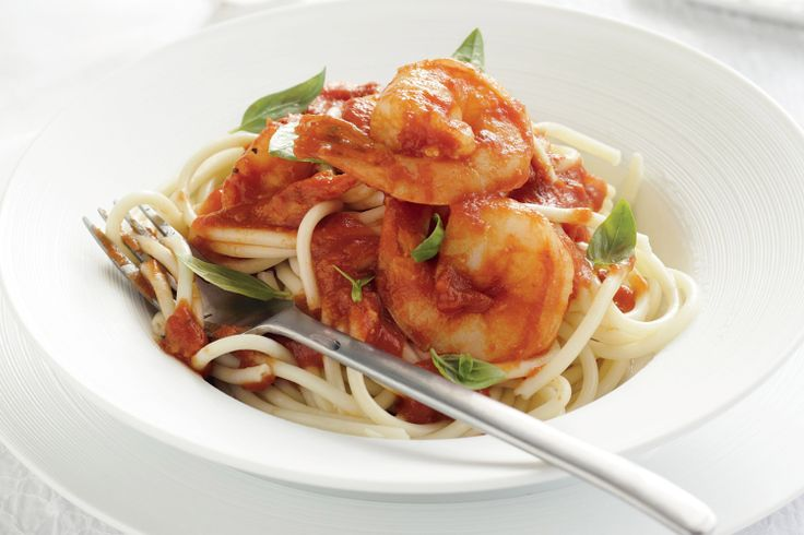 This tasty and simple seafood pasta showcases the prawns without detracting from their delicious flavour.