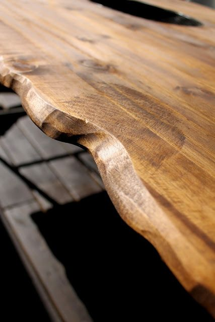 the HUNTED INTERIOR: DIY Live Edge Table
