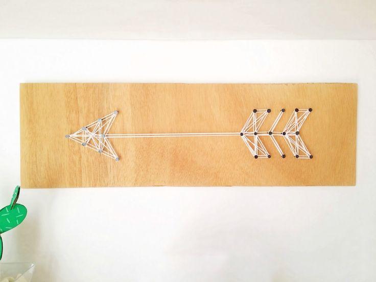 DIY Arrow String Art | Φτιάξε ένα διακοσμητικό βέλος για τον τοίχο με υλικά που θα βρεις σπίτι