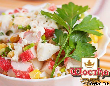 Салат с крабовыми палочками - 20 Апреля 2015 - Cook and Eat