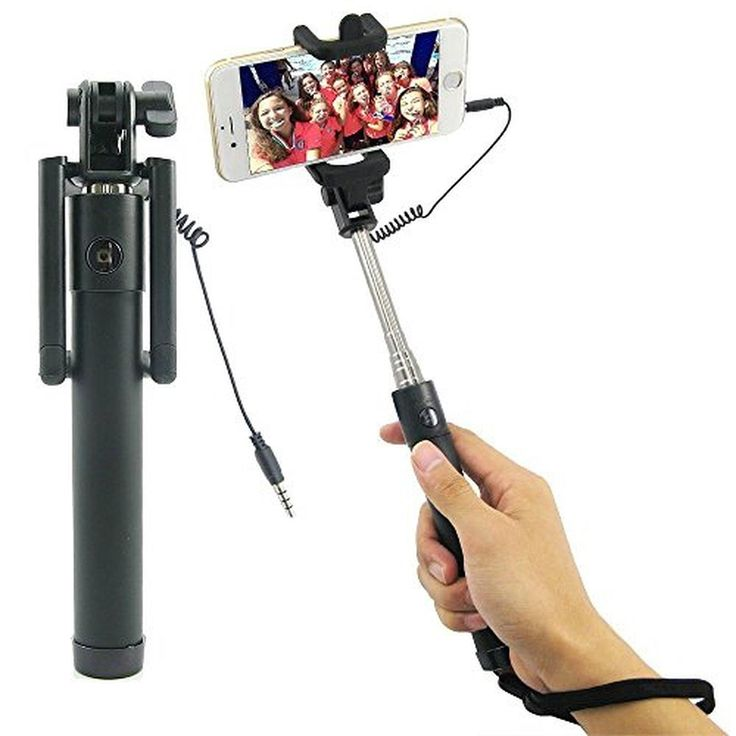 Selfie Stick Wired Shutter Without Bluetooth Remote Wireless Controller Waterproof Selfie Stick Lever For iPhone 6/6s iPhone 6/6s Plus Samsung Galaxy S4/S5/S6/S7 Edge/Google Nexus 6P - Brought to you by Avarsha.com