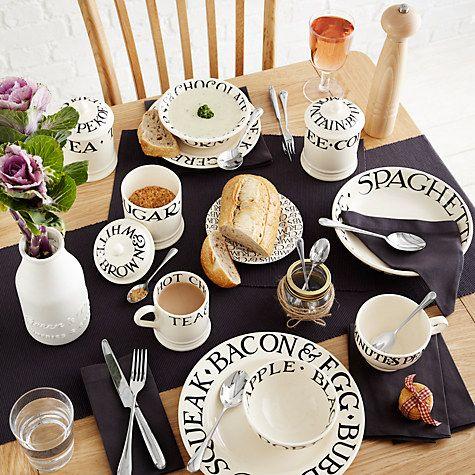 Buy Emma Bridgewater Black Toast 21.5cm Dessert Plate | John Lewis