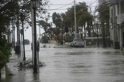 2005 Florida hurricane Wilma caused extensive flooding in Key West FL
