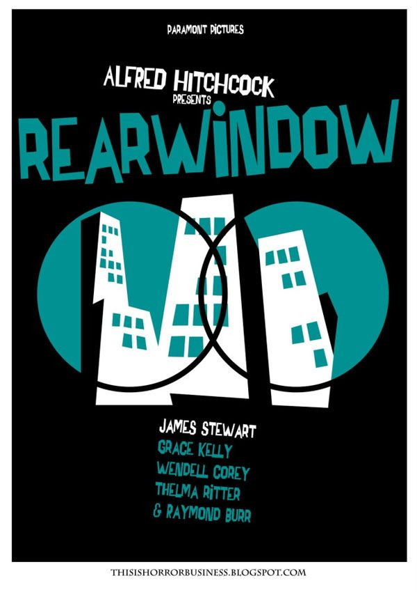 Alfred Hitchcock - Rear Window - Movie Poster by Saul Bass  vintage