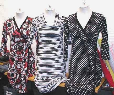 Prints, wrap dresses and cowl dress