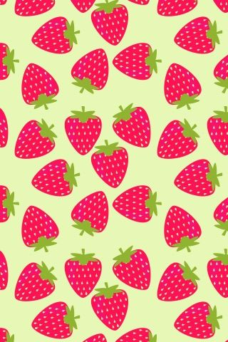 Image via We Heart It https://weheartit.com/entry/128260484/via/11210647 #art #colorful #cute #green #iphone #ipod #kawaii #patterns #pink #strawberries #wallpapers #backgrounds #bg #ipad #homescreen