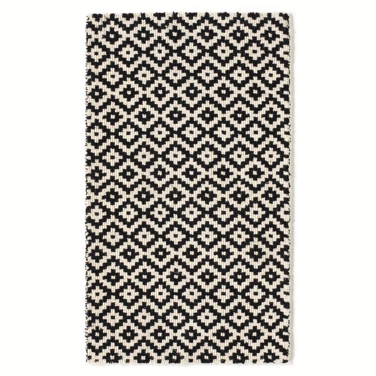Descente de lit tuftée en laine noir et blanc, Autre AMPM  200x290 - 359,99-