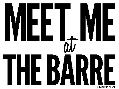 Meet me at the barre. #dance
