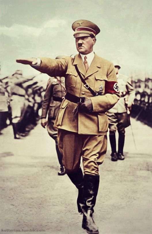 Hitler salute in color