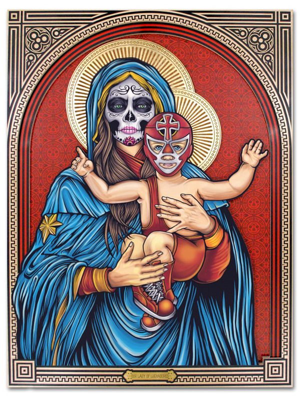'Our Lady of Luchadores' by Pale Horse , via Behance