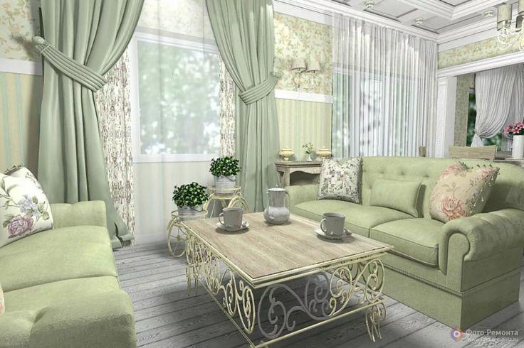 дизайн гостиной в доме прованс: 6 тыс изображений найдено ...