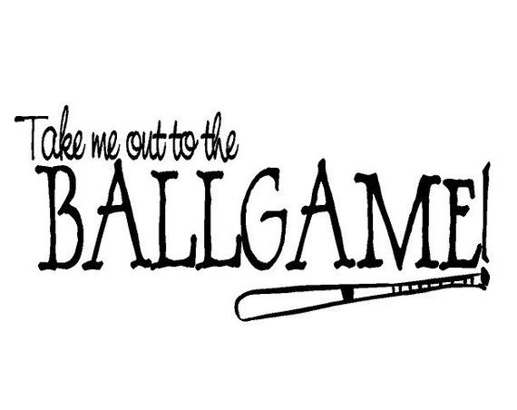 Take Me Out to the Ballgame Vinyl Wall Decal by openheartcreations, $30.00