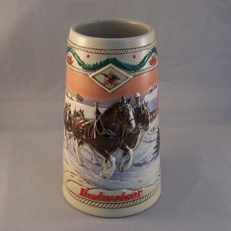1996 Budweiser Holiday Stein