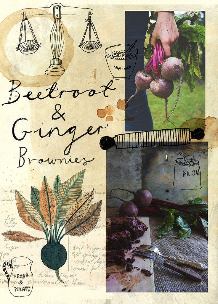 'Beetroot & Ginger Brownies' by Katt Frank.