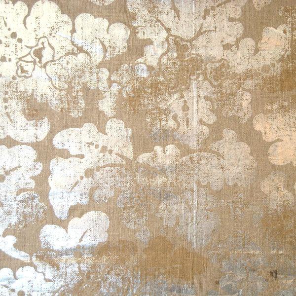 Elizabeth Benefield: Fabrics and Unique Interior Designs  Foil damask wallpaper