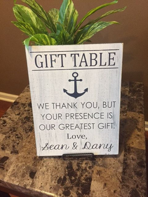 Wedding gift table sign Nautical themed by TheCraftShackbyDanyJ