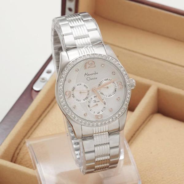 D3,6cm Stainless steel Chronograph Analog 10ATM Garansi resmi 1 tahun Box