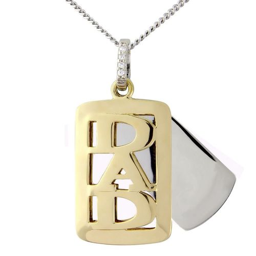 Sterling Silver and 9ct Gold Personalised DAD Pendant & Chain