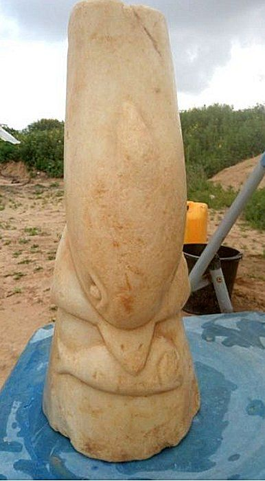 Mysterious 2,000-Year-Old Marble Statuette Of Dolphin Unearthed Near Gaza Strip - MessageToEagle.com