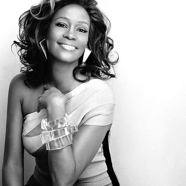 whitney black white. Whitney Houston Black White -