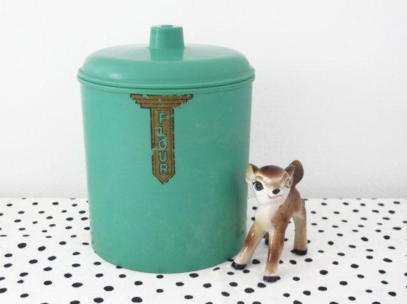 Art Deco Sellex Bakelite Flour Canister  1930s https://www.etsy.com/au/shop/HelloBambiVintage